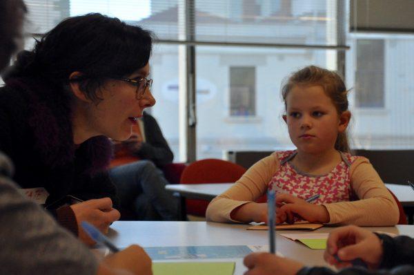 Isabelle with teacher Kate Gordon